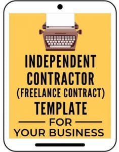 Independent contractor contract graphic